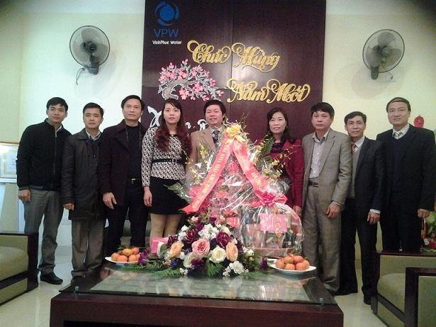 Lãnh đạo tỉnh Vĩnh Phúc đến thăm và chúc tết Công ty